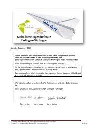 Ausgabe Dezember 2011 Liebe Jugendlichen, liebe ... - Jugendreferat