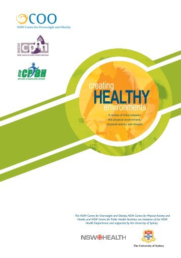Creating healthy environments: A review of links between
