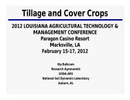 Tillage and Cover Crops (Dry Weather Conditions and Clay Soils ...