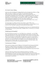 Über die Amadeu Antonio Stiftung (PDF, 80 KB