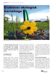 Etablerer økologisk barnehage - Fagbladet Økologisk Landbruk