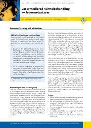 Lasermedierad värmebehandling av levermetastaser - SBU
