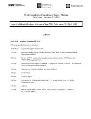 2010 FIAS Donor Meeting Agenda - Investment Climate