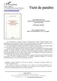 L'Harmattan, collection Critiques Littéraires, 2008