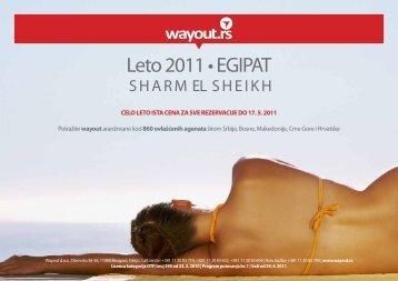 Leto 2011 • EGIPAT - Wayout