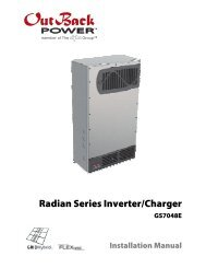 GS7048E Installation Manual - OutBack Power Technologies