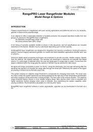 to view RangePRO Laser Rangefinder Modules Summary (PDF)
