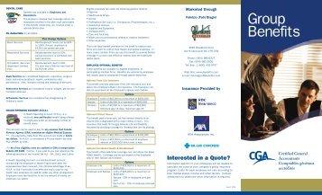 CGA Benefits Brochure - Certified General Accountants of Ontario