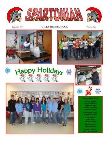 December - Giles High School