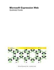Expression Web – Quickstart Guide