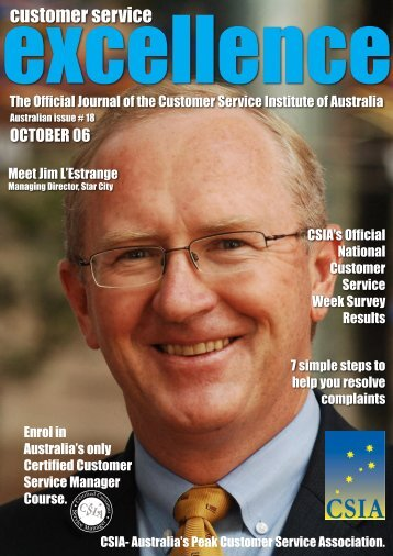 Issue 18 - Customer Service Institute of Australia