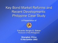 Key Bond Market Reforms and Recent Developments ... - World Bank