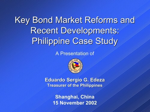 Key Bond Market Reforms and Recent Developments ... - World Bank