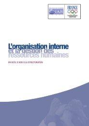 L'organisation interne et la gestion des ressources ... - CNAR Sport