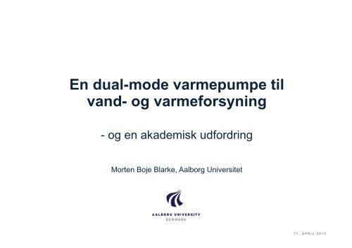 En dual-mode varmepumpe til vand - Aalborg Universitet