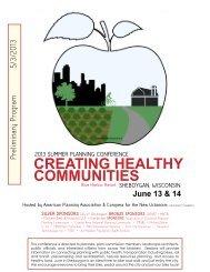 creating healthy communities - American Planning Association ...