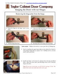 Hanging the Doors with our Hinges - Ordering Cabinet Door