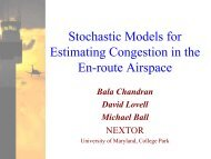 Stochastic Models for Estimating Congestion in the En-route Airspace