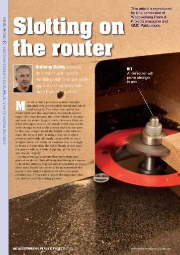 Slotting on the router - Wealdentool.eu