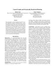 Causal Graphs and Structurally Restricted Planning - Universitat ...