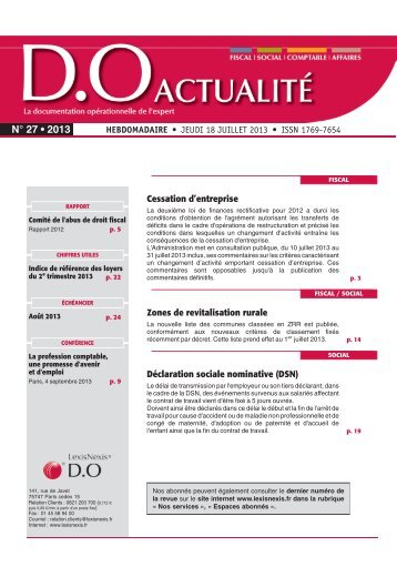 N° 27 • 2013 - LexisNexis