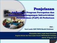 Penjelasan Umum tentang P4IP 2013 oleh TL KMP - P2KP