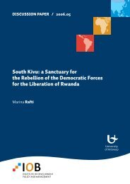 South Kivu: a Sanctuary for the Rebellion of the Democratic Forces ...