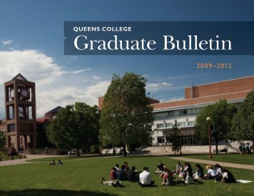 2009-2012 Graduate Bulletin - Queens College - CUNY
