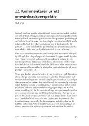 22. Kommentarer ur ett omvårdnadsperspektiv - SBU
