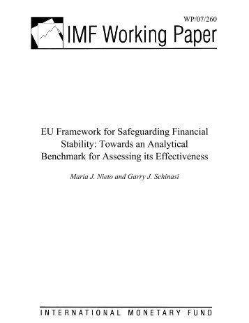 EU Framework for Safeguarding Financial Stability - The Centre for ...