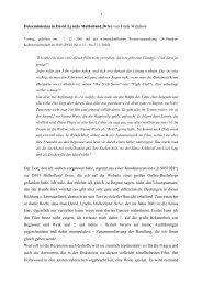 Determinismus in David Lynchs Mulholland Drive von Frank ...