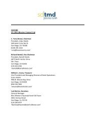FY 2013 Director Contact List - SD|TMD San Diego Tourism ...