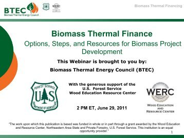 Biomass Thermal Finance - Biomass Thermal Energy Council