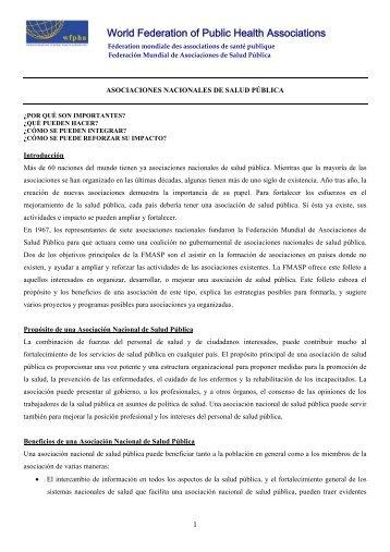 Español - World Federation of Public Health Associations