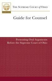 guide for presenting oral argument - Supreme Court