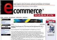 e-commerce-magazin - Mehr Geschäftserfolg im Internet - Exagon