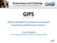 Global standards to measure and report investment performance ...