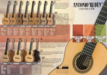 Folder von Antonio Rubén Gitarren