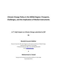 Climate Change Policy in the MENA Region - Economic Research ...