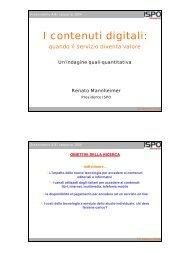 I contenuti digitali - Key4biz