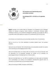 Aanvraag van het Institut Wallon de l'Evaluation, de la Prospective et ...
