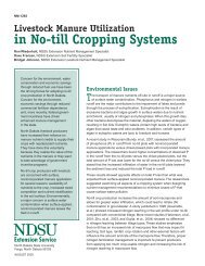 Livestock Manure Utilization in No-till Cropping Systems
