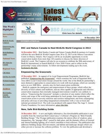 Download a Printable PDF Version - Bird Studies Canada