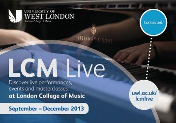 LCM Live - University of West London