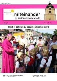 Ausgabe: 2 / 2011 - Pfarre Frankenmarkt
