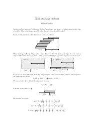 Block stacking problem