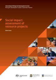 Social impact assessment of resource projects - International Mining ...