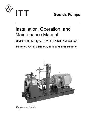 3700 Installation Operation and Maintenance Manual