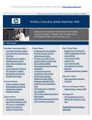 NonStop Computing Update September 2006 - HP Integrity ...