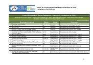 Lista: Mosaicos de Áreas Protegidas - Unidades de Conservação